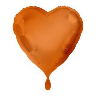 Herzballon Orange Folie ø45cm