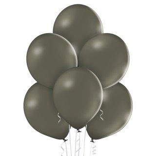8 Luftballons Grau Pastel ø30cm