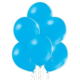 8 Luftballons Blau-Cyan Standard ø30cm