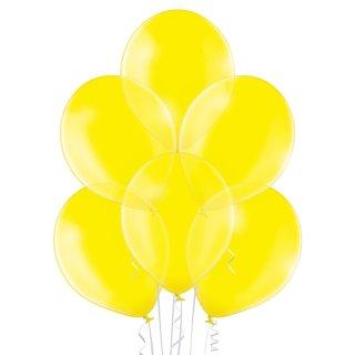 8 Luftballons Gelb Kristall ø30cm
