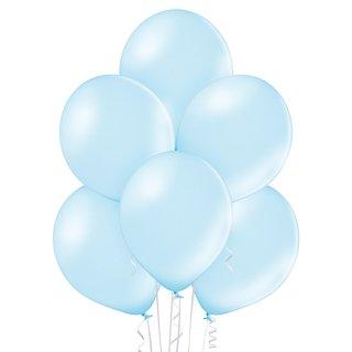 8 Luftballons Blau-Hellblau Metallic ø30cm