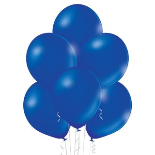 8 Luftballons Blau-Königsblau Metallic ø30cm