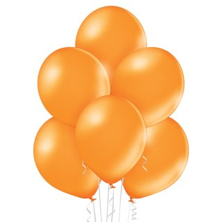 8 Luftballons Orange Metallic ø30cm