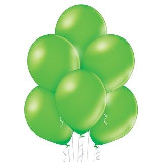 8 Luftballons Grün-Limonengrün Metallic ø30cm