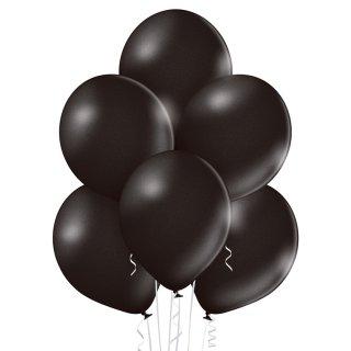8 Luftballons Schwarz Metallic ø30cm
