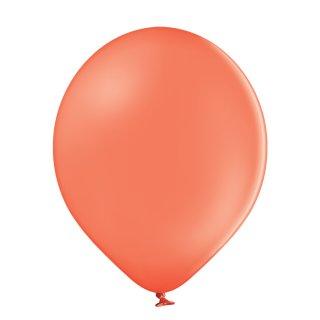 100 Luftballons Orange-Koralle Pastel ø12,5cm