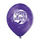 6 Luftballons Happy Halloween Fledermäuse ø30cm