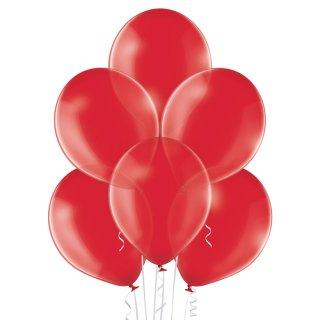 100 Luftballons Rot-Königsrot Kristall ø30cm