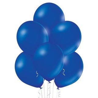 100 Luftballons Blau-Königsblau Metallic ø30cm