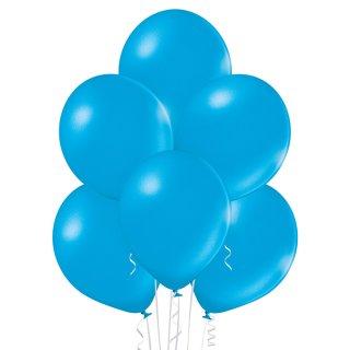 100 Luftballons Blau-Cyan Metallic ø30cm