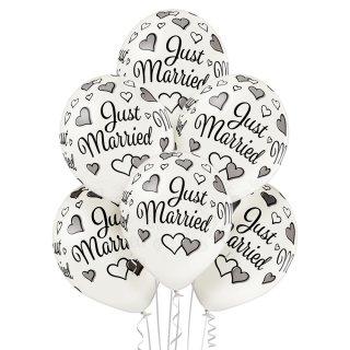 6 Luftballons Just Married Metallic ø30cm