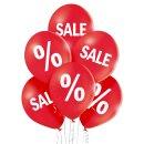 6 Luftballons Sale Standard ø30cm