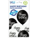 6 Luftballons Happy Birthday Schwarz Standard ø30cm