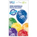 6 Luftballons Zoo Tiere Standard ø30cm