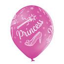 6 Luftballons Prinzessin Mix Standard ø30cm