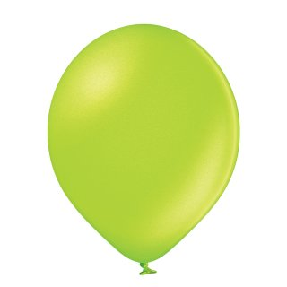 100 Luftballons Grün-Apfelgrün Metallic ø12,5cm