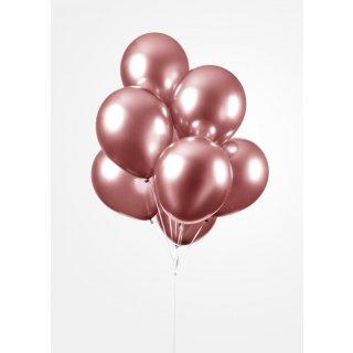 10 Luftballons Rosegold Spiegel ø30cm