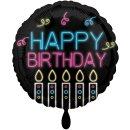 Luftballon Happy Birthday Neon ø45cm