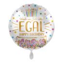 Luftballon Happy Birthday EGAL Folie ø43cm