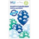 6 Luftballons Wolken Blau ø30cm