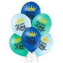 6 Luftballons Blau Mix Little King ø30cm
