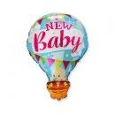Luftballon NEW Baby Blau Folie 92cm