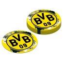 12 Bierdeckel BVB Dortmund Papier 10,7cm