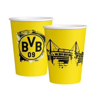 6 Becher BVB Dortmund Papier 500ml