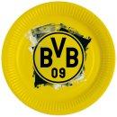 8 Teller BVB Dortmund Papier ø23cm