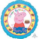 Luftballon Peppa Pig Happy Birthday Folie ø43cm