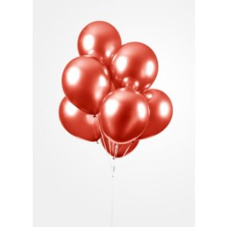 10 Luftballons Rot Spiegeleffekt ø30cm
