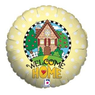 Luftballon Welcome Home Haus Folie ø46cm
