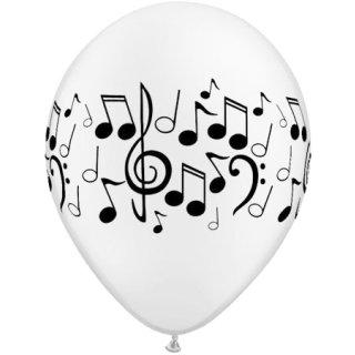 25 Luftballons Musiknoten ø28cm