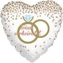 Luftballon Hochzeitsringe Frisch Verheiratet Folie...