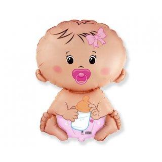Luftballon Baby Rosa Folie 66cm