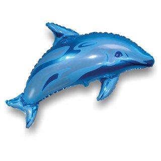 Luftballon Delfin Blau Folie 95cm