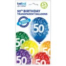 6 Luftballons Zahl 50 Mix ø30cm