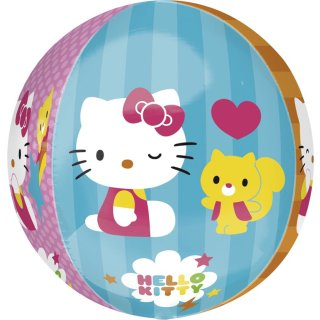 Luftballon Hello Kitty 4 Motive Orbz kugelrund Folie ø40cm