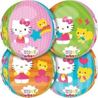 Folienballon Kugel HELLO KITTY 4 Motive ORBZ ø40 cm Disney ungefüllt