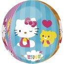 Luftballon Hello Kitty 4 Motive Orbz kugelrund Folie...