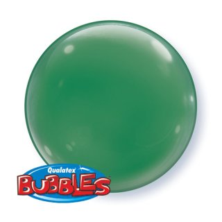 4 Luftballons Grün Bubble Folie ø38 cm