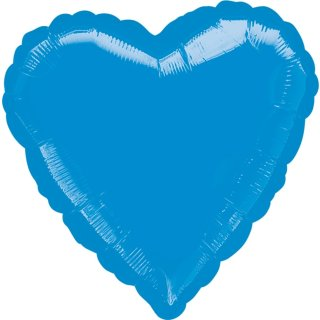 Herzballon Blau Folie ø45cm