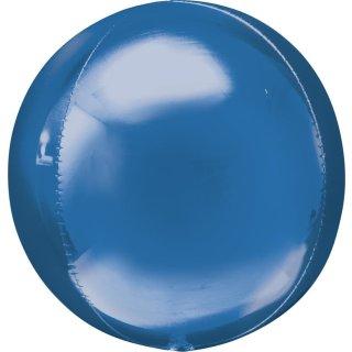 Luftballon Blau Orbz kugelrund Folie ø40cm