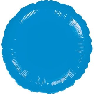 Luftballon Blau Folie ø45cm