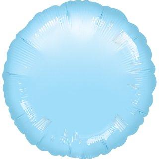 Luftballon Blau-Hellblau Folie ø45cm