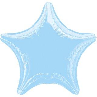 Sternballon Blau-Hellblau Folie ø45cm