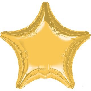 Sternballon Gold Folie ø45cm