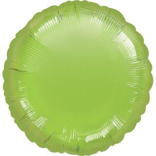 Luftballon Grün-Limonengrün Folie ø45cm