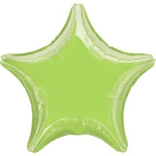 Sternballon Grün-Limonengrün Folie ø45cm