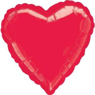 Herzballon Rot Folie ø45cm